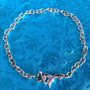Cool Jewels silvertone dolphin statement necklace